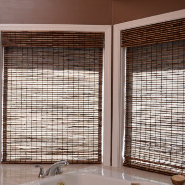 Photo Woven Wood Shade with Valance