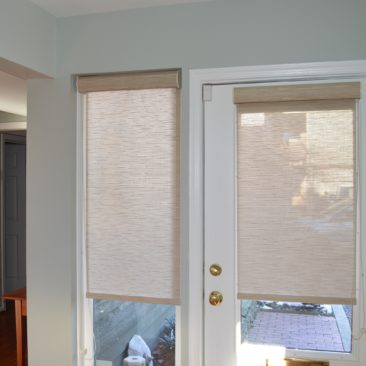 Photo Roller Shade door and sidelight