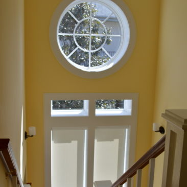Motorized Roller Shades Stairwell