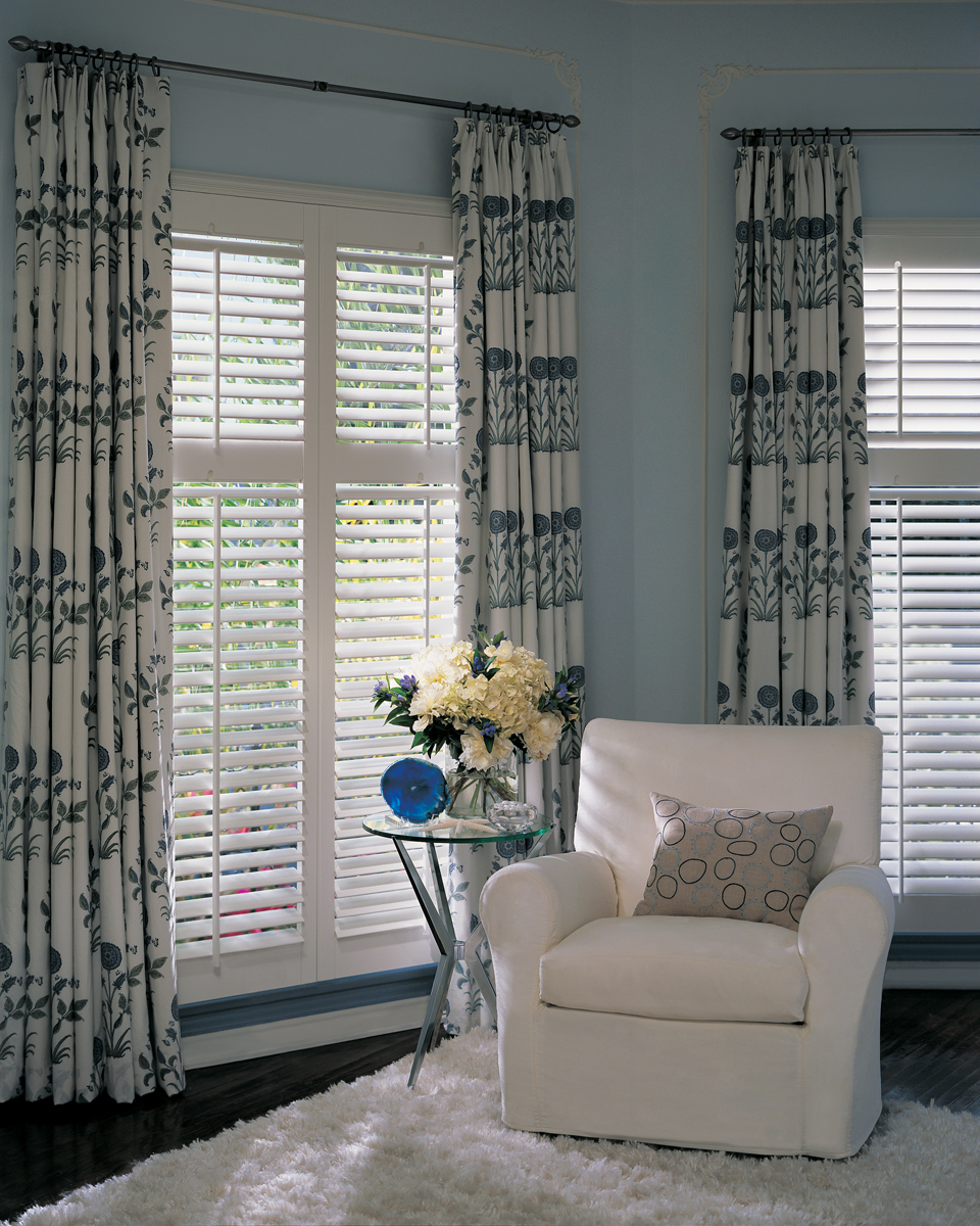 Custom Plantation Shutters Interior Living Room