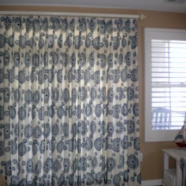 drapery panels for sliding glass door in Ocean City, MD