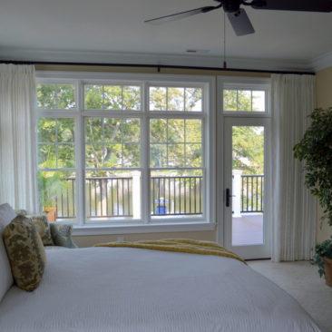 Pinch Pleat custom window treatments in Severna Park, MD M.B