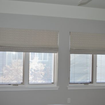 Neutral Roman Shades for Living Room