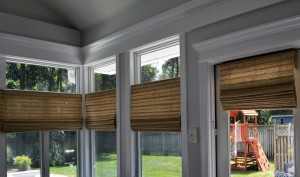 McFeely Window Fashions – Woven Wood Roman Shades - Cordless